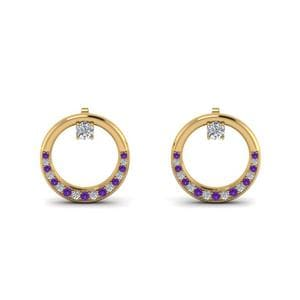 Pave Purple Topaz Earring