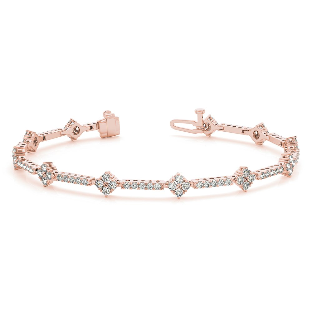 Classic Design 18K Rose Gold Bracelet