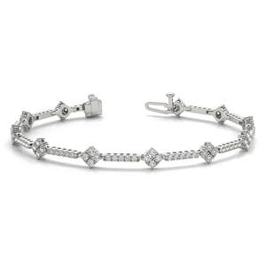 18K White Gold Tennis Diamond Bracelet