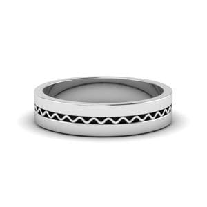 Classic Flat Platinum Mens Ring