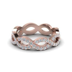 Diamond Infinity Braid Eternity Band