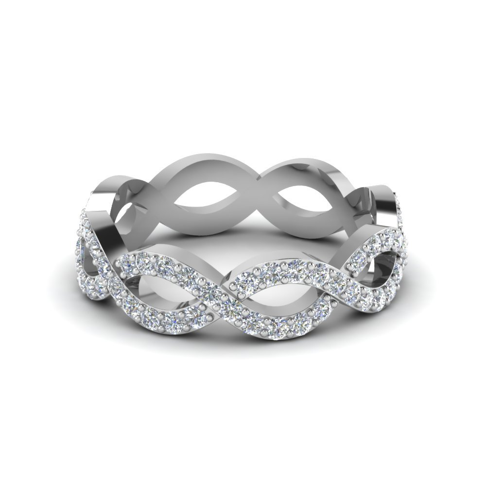 Classic Infinity Womens Eternity Ring