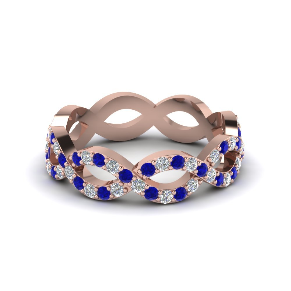 Classic Infinity sapphire Eternity Band Ring