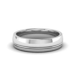 Platinum Glossy Wedding Band