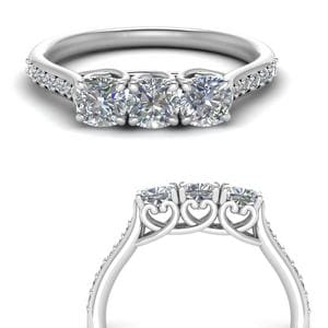 Classic Prong Cushion Diamond Ring