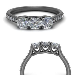 Classic Prong Cushion Cut Ring