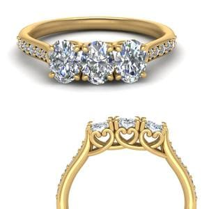 Classic Prong Oval Diamond Band