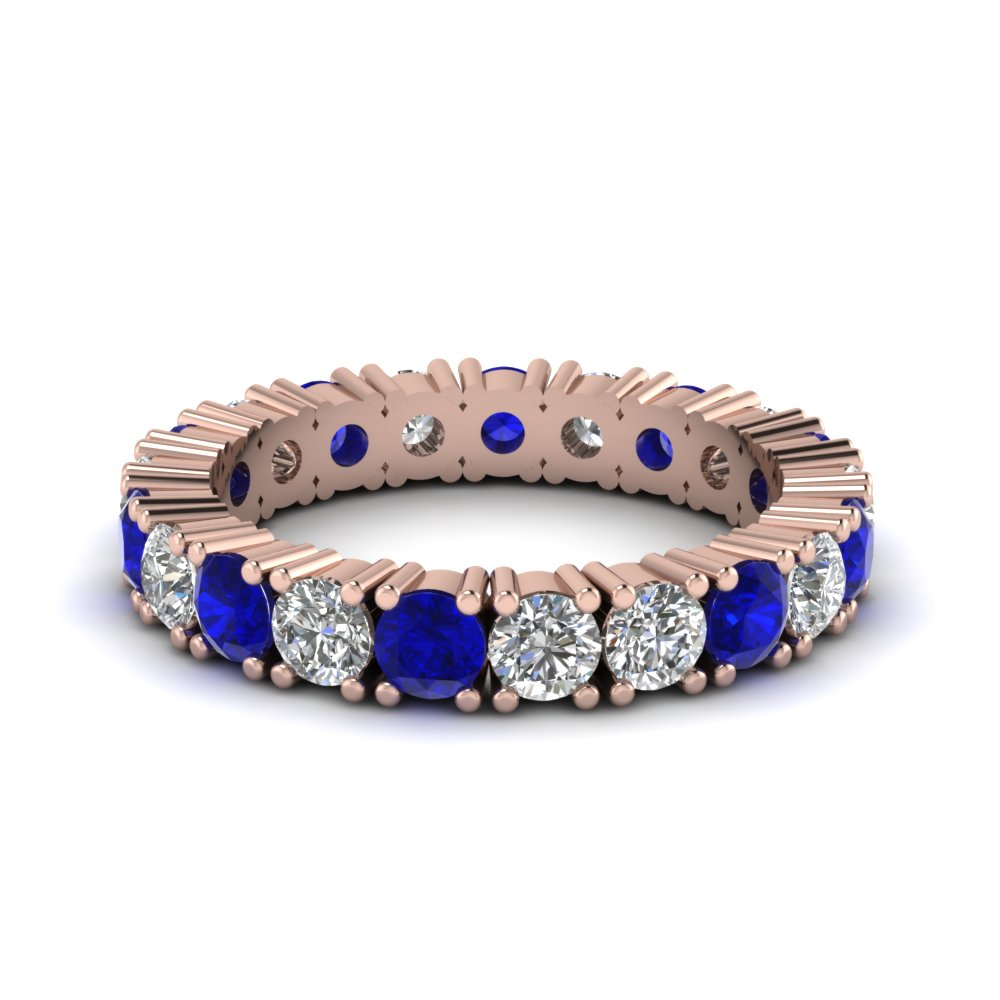 Sapphire Shared Prong Eternity Band