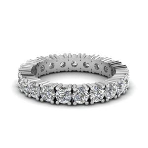 2 Carat Shared Prong Eternity Band