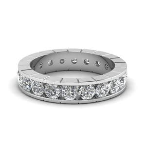Classic Channel Diamond Eternity Band In 14K White Gold