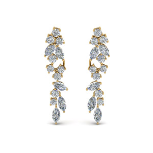Cluster Marquise And Round Earring