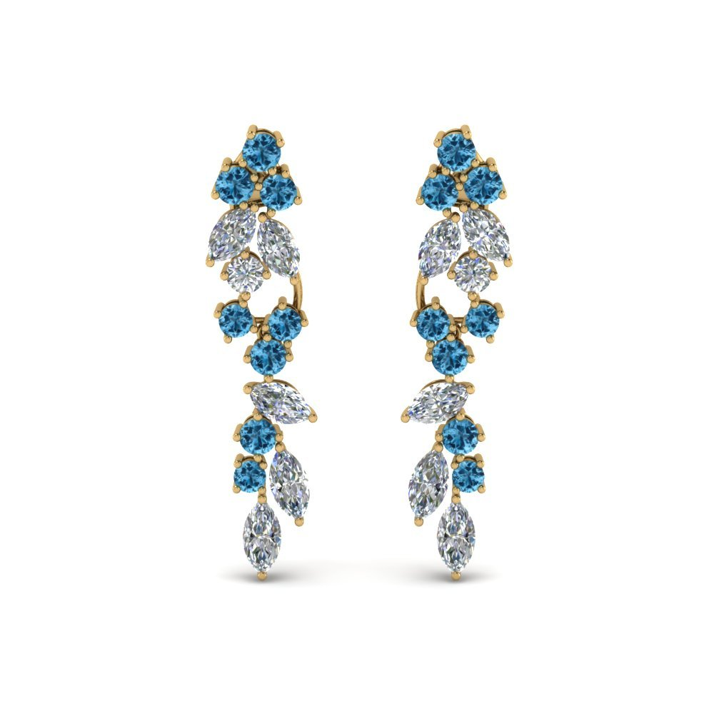 Extraordinary Blue Topaz Earring