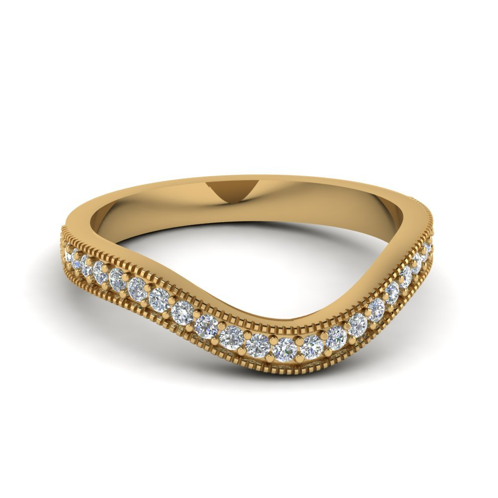 Contour Pave Diamond Band