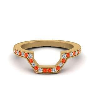 Orange Topaz Vintage Band