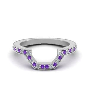 Classic Curved Purple Topaz Band