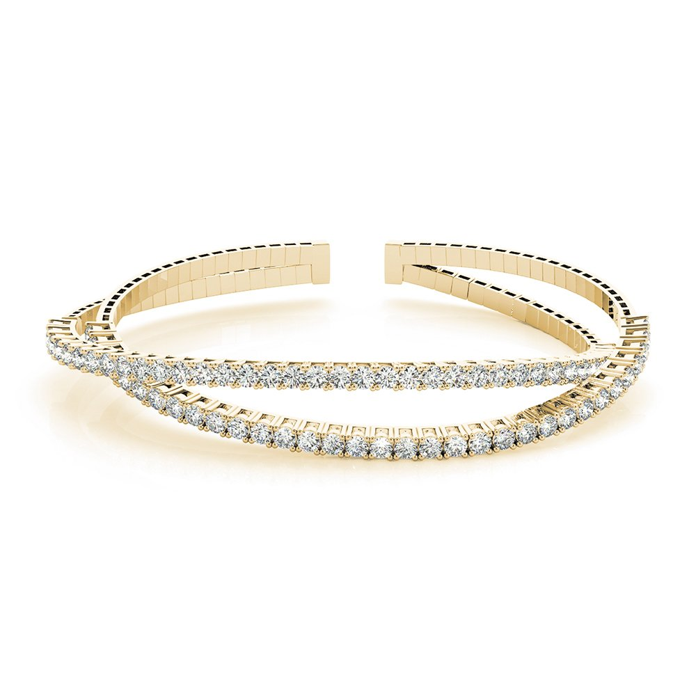 18K Yellow Gold Criss Cross Bracelet