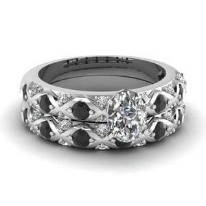 Black Diamond Wedding Ring Set