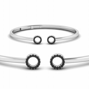 2 Circles Hinged Bangle