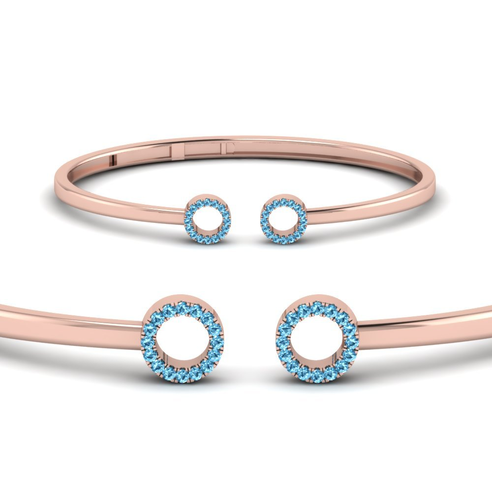 Blue Topaz Open Circle Bracelet