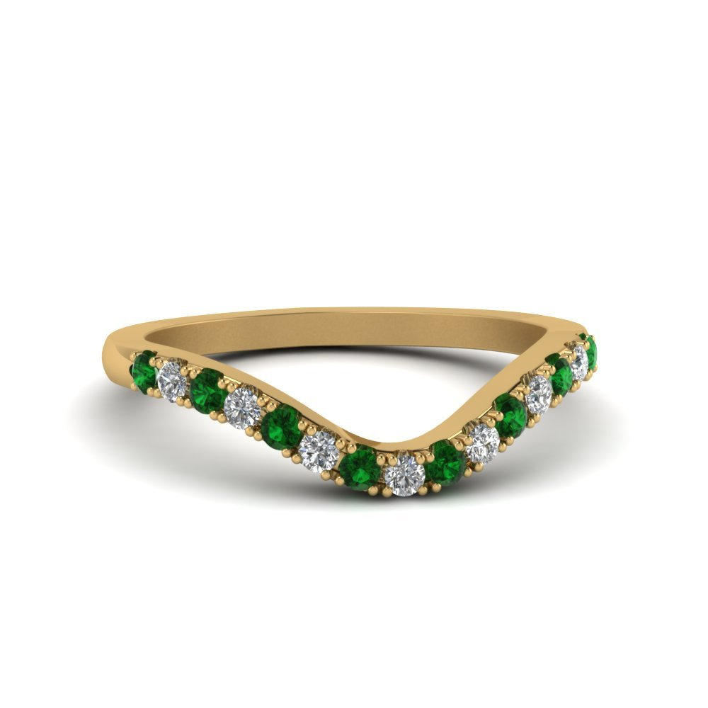 Emerald Delicate Diamond Band