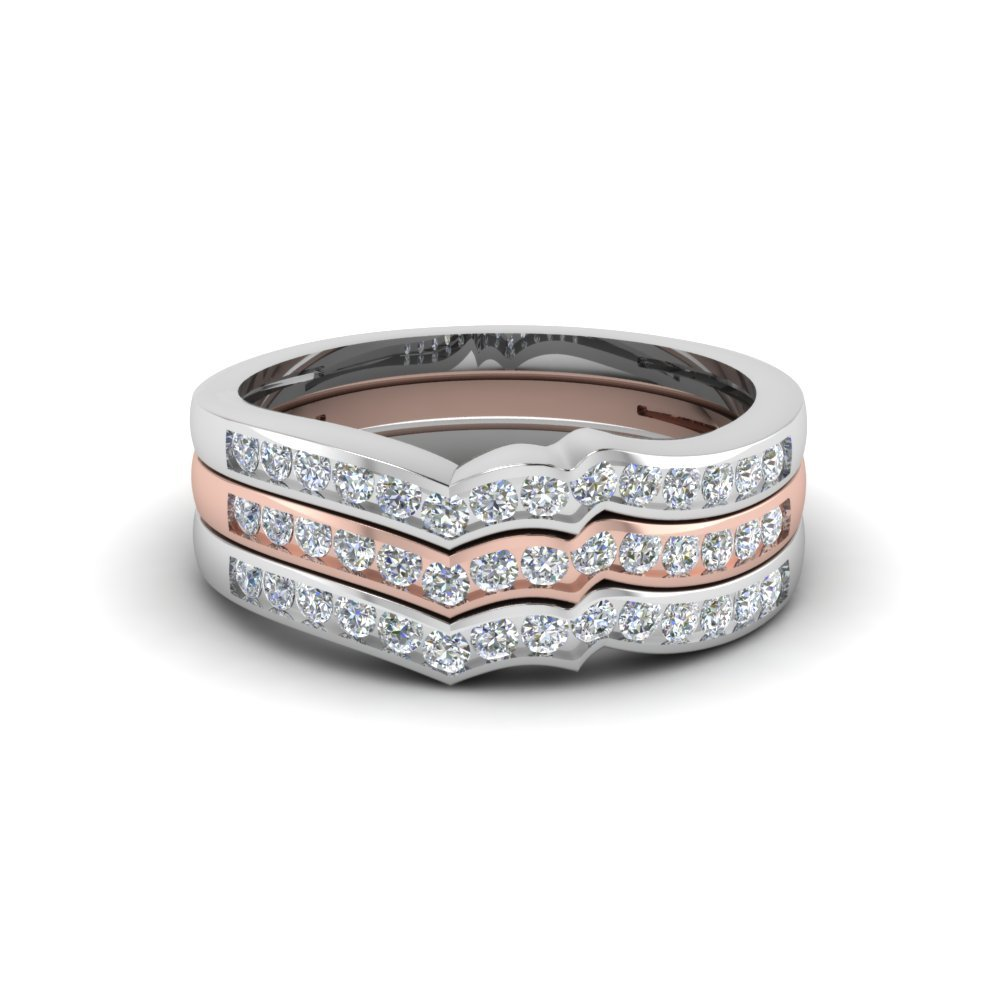 Curved Stackable Band With Multi Gold