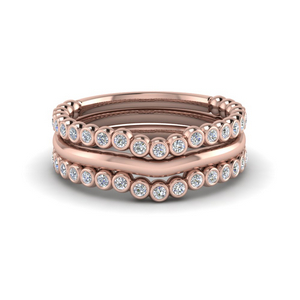 Stackable Diamond Wedding Bands