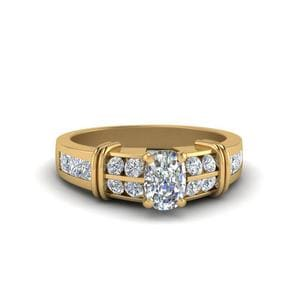 Bar Channel Set Diamond Ring