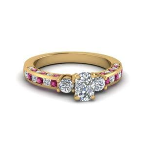 3 Stone Diamond Gold Ring