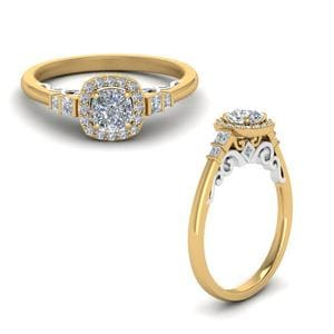 Delicate Diamond Halo Ring
