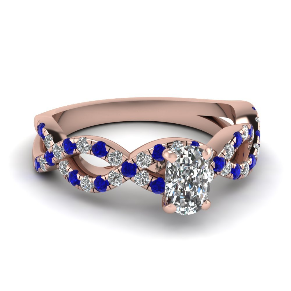 Sapphire Infinity Engagement Ring