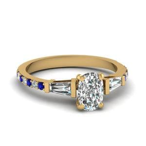 3 Stone Baguette Petite Diamond Ring