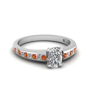 Delicate Cushion Cut Diamond Ring