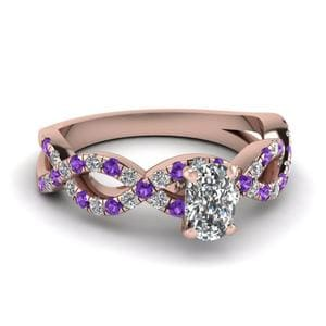 Violet Topaz Cushion Cut Ring