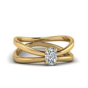 Cushion Cut Split Shank Ring