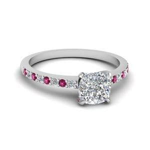 Thin Band Pink Sapphire Ring