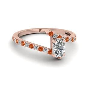 Petite Bypass Cushion Diamond Ring