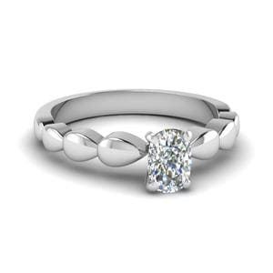 Rain Drop Solitaire Ring