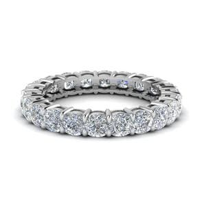 3.50 Ct. Cushion Eternity Diamond Band