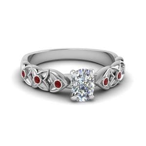 Ruby Cushion Cut Ring