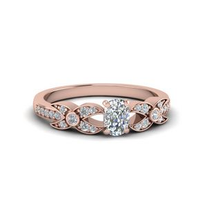 Flower Pave Diamond Ring