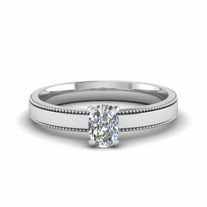 Platinum Cushion Cut Anniversary Ring