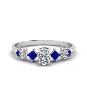 Sapphire Cushion Diamond Ring