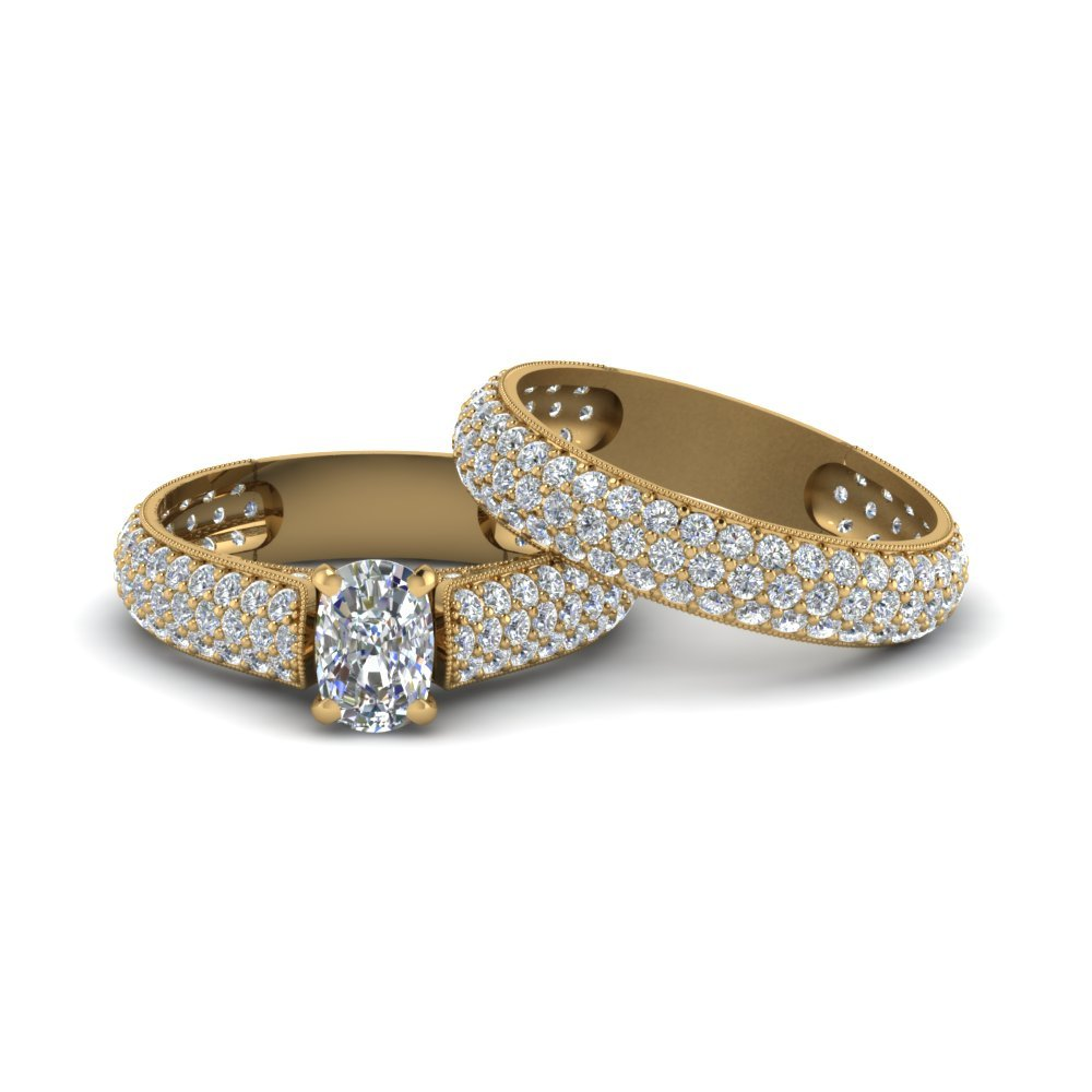 Multi Row Diamond Bridal Set For Women