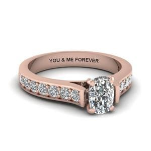 Pave Accent Diamond Ring