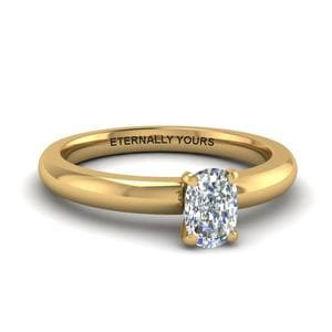 Classic Cushion Cut Solitaire Ring