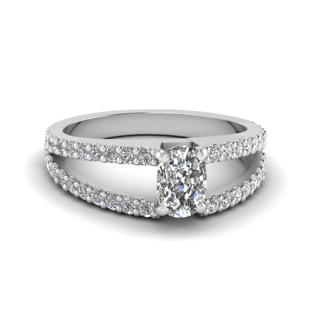 Cushion Cut White Gold Ring