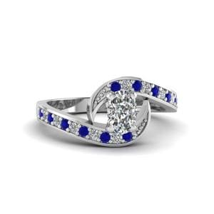 Delicate Sapphire Engagement Ring