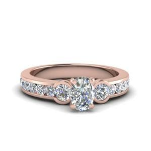 Cushion Diamond 3 Stone Ring