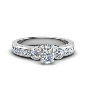 3 Stone Channel Diamond Ring