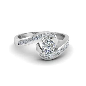 Swirl Channel Set Diamond Ring